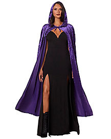 Purple Crush Velvet Cape Womens Costume