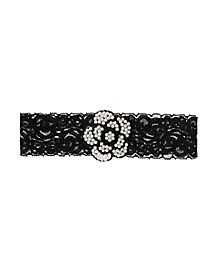 20s Black Lace Flower Garter