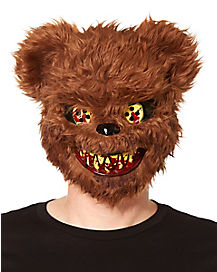 Brown Scary Teddy Bear Mask