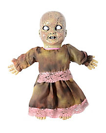 Animated Cracked Haunted Doll - Decorations