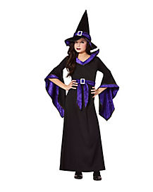 Kids Bell Sleeve Witch Costume