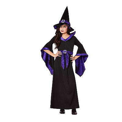 Black and Purple Hocus Pocus Witch Child Costume