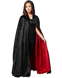 Reverse Black and Red Hooded Cloak Child Costume