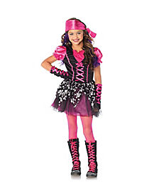 Kids Pink Pirate Costume