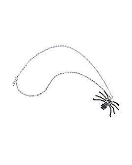 Black Rhinestone Spider Necklace
