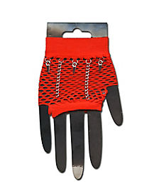 Red Mesh Chain Gloves
