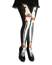 Skeleton Bone Tights