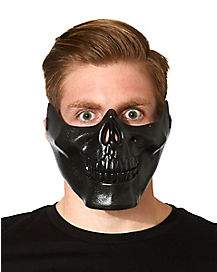 Black Metallic Skull Mask