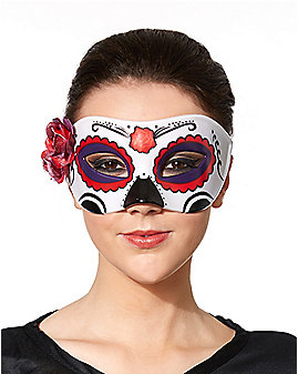 Side Flower Day of the Dead Mask