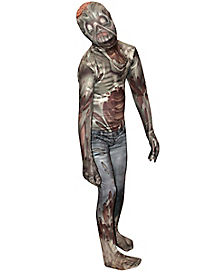 Kids Zombie Monster Skin Suit Costume