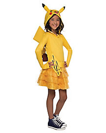 Kids Pikachu Hoodie Dress Costume - Pokemon