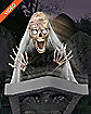 2 ft Jumping Skull with Tombstone Animatronics - Decorations