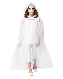 Kids White Ghost Cape