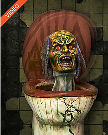 16 Inch Pop-Up Zombie Toilet - Decorations