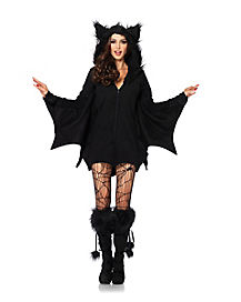 Bat Hooded Adult Womens Dress