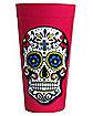 Pink Sugar Skull Plastic Cup