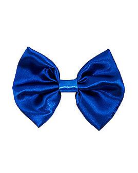 Blue Satin Bowtie