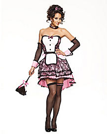 Pretty in Pink Maid Adult Womens Costume