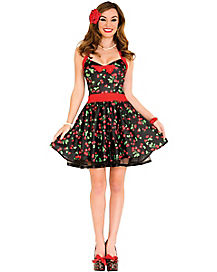 Adult Retro Cherry Dress 50s Costume