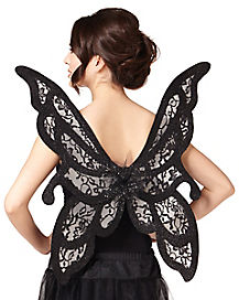Black Butterfly Adult Wings