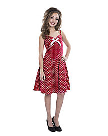 Kids Red Polka Dot 50s Dress Costume
