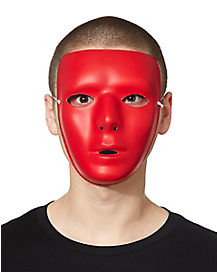 Blank Face Mask in Red
