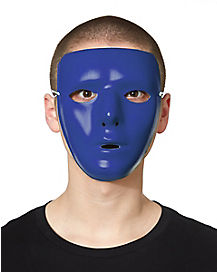 Blank Face Mask in Blue