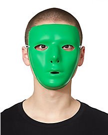 Blank Face Mask in Green