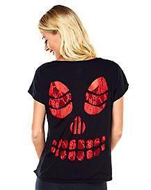 Skull Lace T shirt