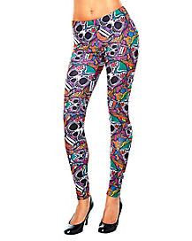 Sugar Skull Adult Legging