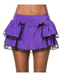 Purple Adult Ruffle Skirt