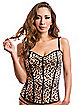 Adult Leopard and Black Reversible Corset