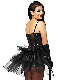 Black Short Tiered Bustle