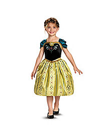 Kids Anna Coronation Gown Classic Costume - Frozen