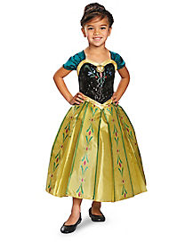 Kids Anna Coronation Gown Costume - Frozen