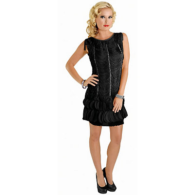 Vintage Inspired Halloween Costumes Adult Art Deco Flapper Costume $49.99 AT vintagedancer.com