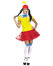 Adult Skirted Tweedle Dee Dum Costume