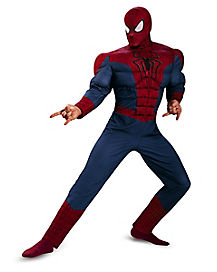 Adult Muscle Spiderman Jumpsuit Costume - Spiderman