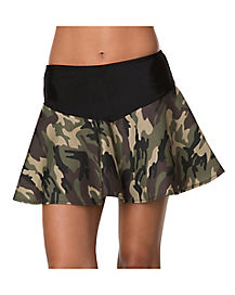 Camo Skirt Adult Womens Costume