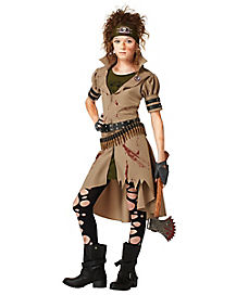 Zombie Hunter Girls Costume