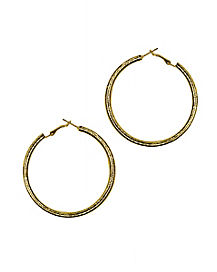 70s Gold Hoop Earrings