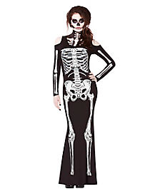 Skelebones Adult Womens Costume