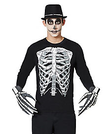 Adult Skeleton Long Sleeved T Shirt
