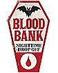 Blood Bank Plastic Sign