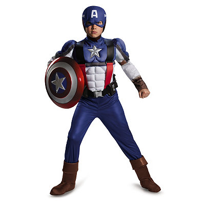 Captain America Retro Muscle Jumpsuit Child Costume