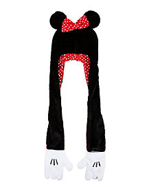 Minnie Mouse Faux Fur Snood With Hands