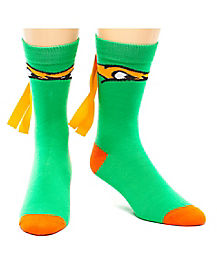 Teenage Mutant Ninja Turtles Orange Crew Sock