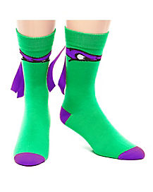 Teenage Mutant Ninja Turtles Purple Crew Sock