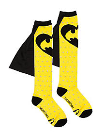 Fashion Dot Batman Caped Socks - DC Comics
