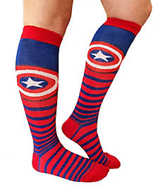 Captain America Knee High Socks